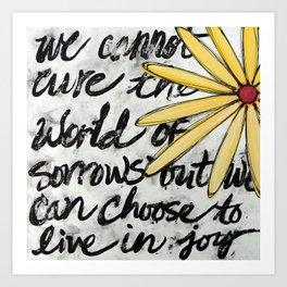 Live in Joy Art Print