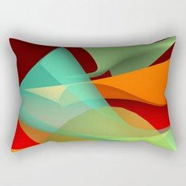 flying waves over red Rectangular Pillow