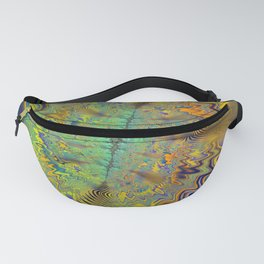 Tribal Beat Abstract Fractal Fanny Pack