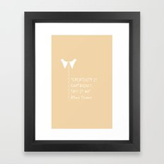 QUOTE-1 Framed Art Print
