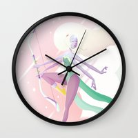 steven universe Wall Clocks featuring Opal - Steven Universe by theconsy