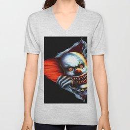 Evil Clown Unisex V-Neck