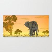 africa Canvas Prints featuring africa by Priscila Arandiga