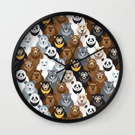 Bears Bears Bears Wall Clock