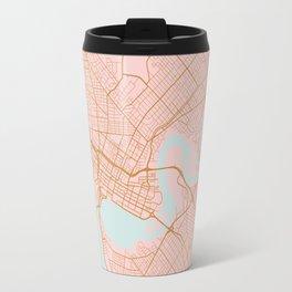 Pink and gold Perth map, Australia Travel Mug