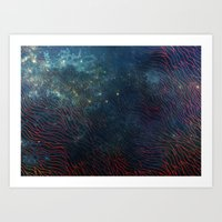 aqua Art Prints featuring aqua by Vita♥G