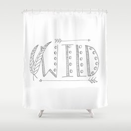 Wild Print With Feathers Shower Curtain