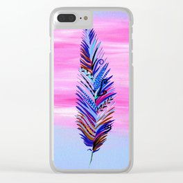 feather pictures Clear iPhone Case