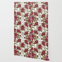 Poinsettia Flowers Wallpaper
