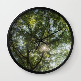 Inside the tree Wall Clock