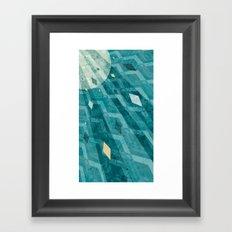 Sunburst Triangle Burst Framed Art Print