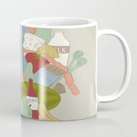 food Mugs featuring FOOD by Nora
