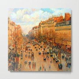 Pissarro Montmartre Boulevard Metal Print