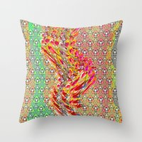wizard Throw Pillows featuring Wizard by elikourY