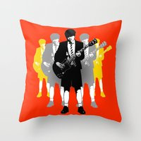 acdc Throw Pillows featuring Taking The Lead by Alan Hogan