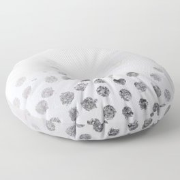 Silver and White Floor Pillow