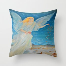Bless me | Guardian Angels are Here | Angel of Abundance | Love Throw Pillow