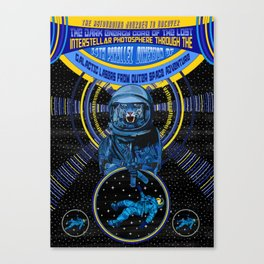 Galactic Lasers From Outer Space Adventure Canvas Print