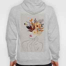 Modern Abstract Female Line Art Hoody