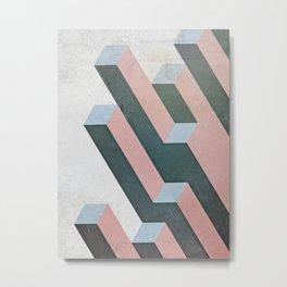 Linear Geometry Metal Print