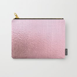 Simply Metallic in Blush Rose Gold Carry-All Pouch