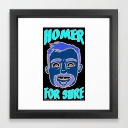 Homer For Sure Framed Art Print