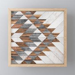 Urban Tribal Pattern No.12 - Aztec - Wood Framed Mini Art Print