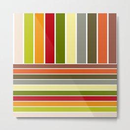 Autumn Colors Stripes Metal Print