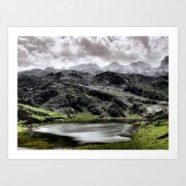 Lake Ercina in Asturias, Spain Art Print