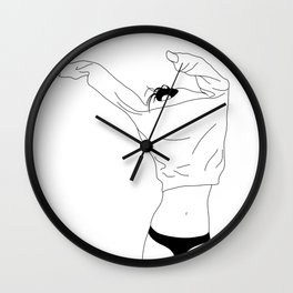 Fashion illustration line drawing - Cadee Wall Clock