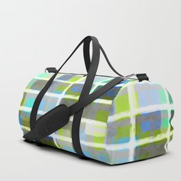Rectangles in Blues and Greens Duffle Bag