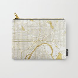 St Paul Map Gold Carry-All Pouch