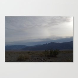 Dusk with Green Plants at Death Valley Spring 2016 Number Four Canvas Print