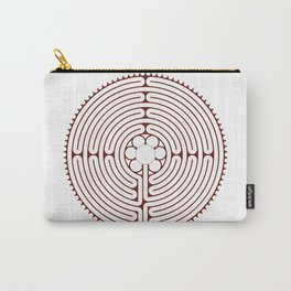 Cathedral of Our Lady of Chartres Labyrinth - Red Carry-All Pouch
