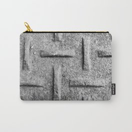B&W Emboss Carry-All Pouch