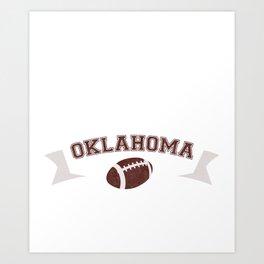 Just a Baller from Oklahoma Football Player Art Print
