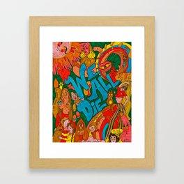 We All Die, Rainbow in the Sky Framed Art Print