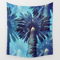 palm trees Wall Tapestries featuring palm trees by JoanaRosaC