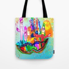 House of mustache Tote Bag