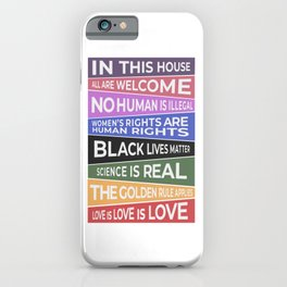 In This House, All Are Welcome Banner iPhone Case