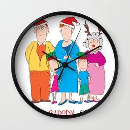 Merry Bloody Christmas Wall Clock