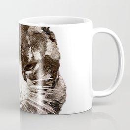 Vintage Cat Illustration Coffee Mug