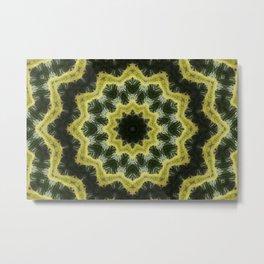 Floral lattice kaleidoscope Metal Print
