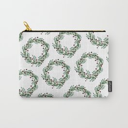 Holiday Berry Wreath Carry-All Pouch