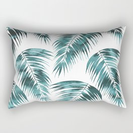 Maui Palm Leaf 2 green Rectangular Pillow