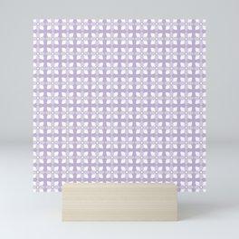Soft Lavender Repeat Floral Pattern Mini Art Print
