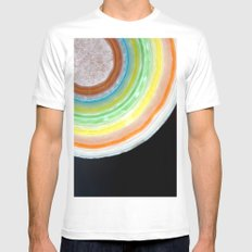 Colorful Abstract Slice of Giant Jawbreaker Candy MEDIUM White Mens Fitted Tee