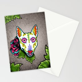 Bull Terrier - Day of the Dead Sugar Skull Dog Stationery Cards
