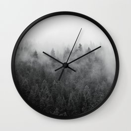 Black and White Mist Ombre Wall Clock