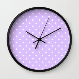 Lavender Polka Dots Wall Clock